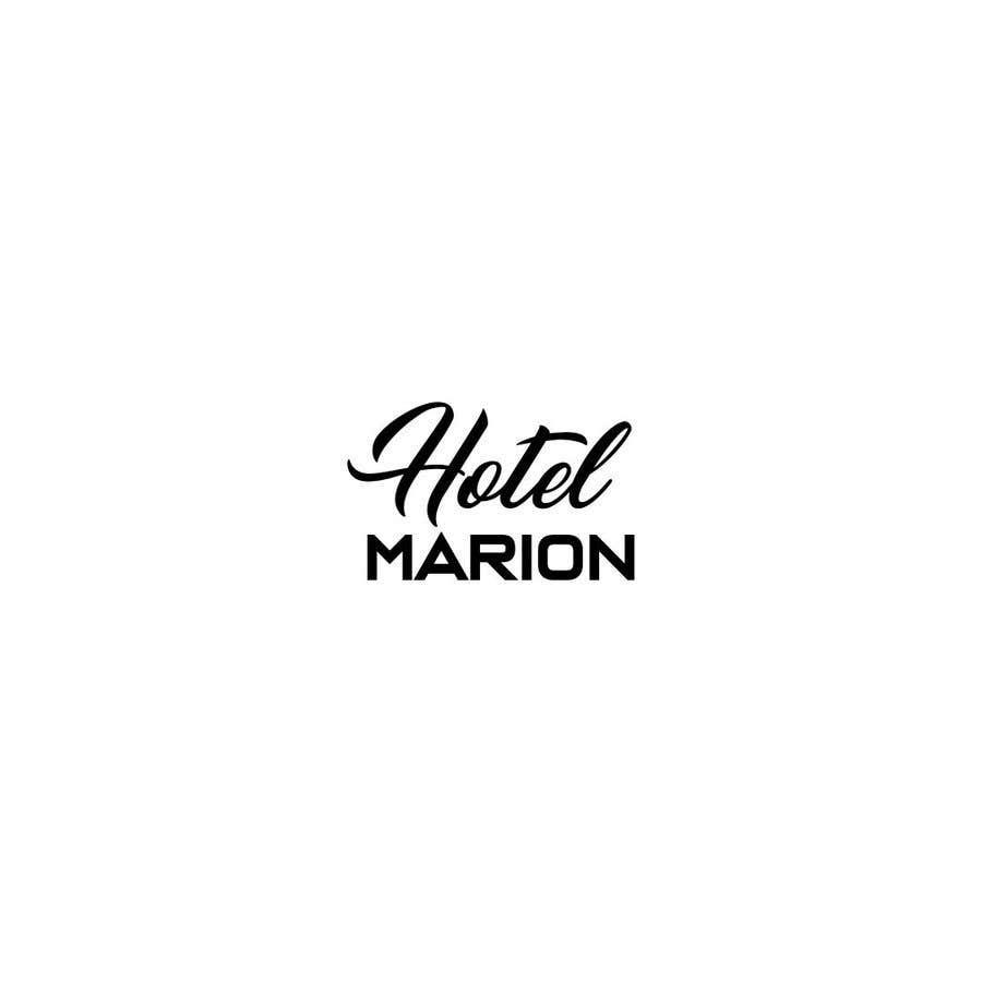 Kilpailutyö #6 kilpailussa Modern logo for a boutique hotel. Named Hotel Marion