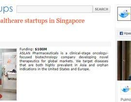 #37 cho I'm looking for someone that do a list of startup in health or tech sector in Singapore bởi mdhriody1003khan