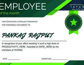 #3 for Employee of the month by PankajRajputPN