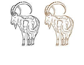 #82 for Need a line(brown) sketch of the animal Himalayan Ibex done, looking at it from behind by khaldiyahya