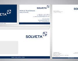 #45 untuk Letterhead, Envelopes, Business Cards and more for Solveta oleh F5DesignStudio