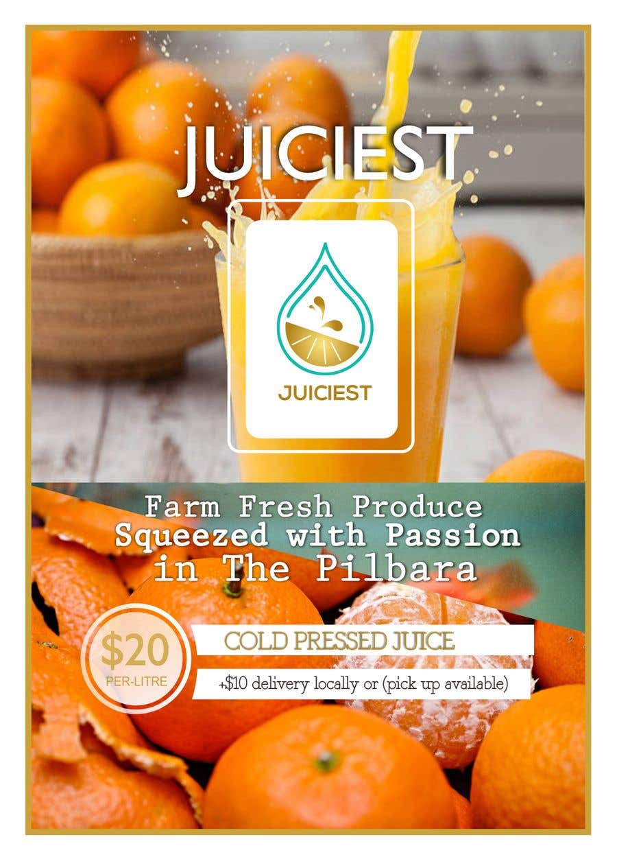 Inscrição nº 4 do Concurso para Clean fresh and bright looking flyer created for cold pressed juices. With a loyalty card buy 10 get the 11th juice free