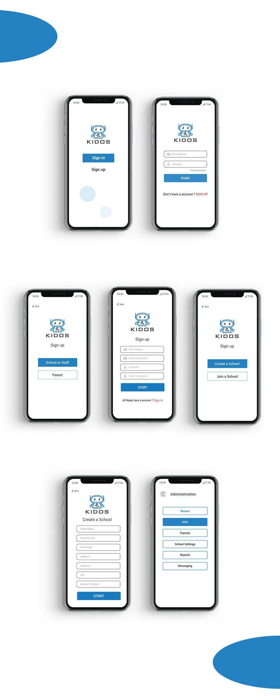 Конкурсная заявка №18 для Daycare Mobile App Design (only some screens)