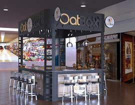 #9 untuk Design and render a small food space for a mall. oleh IllusionDrop