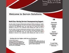 Nro 145 kilpailuun Flyer for servon solutions käyttäjältä PixelDesign24