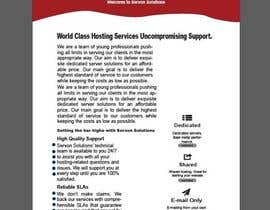 Nro 149 kilpailuun Flyer for servon solutions käyttäjältä PixelDesign24