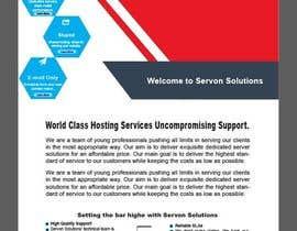 Nro 148 kilpailuun Flyer for servon solutions käyttäjältä PixelDesign24