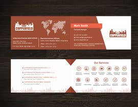 #112 for Design Creative & Trendy One Fold Business Card by Uttamkumar01