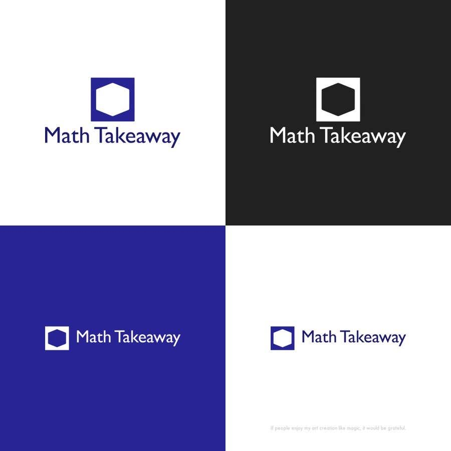 Konkurrenceindlæg #38 for I need a logo design for Math Takeaway and an app icon. Math Takeaway is a Math app that students can practise Math questions on-the-go, while travelling to and fro school, etc