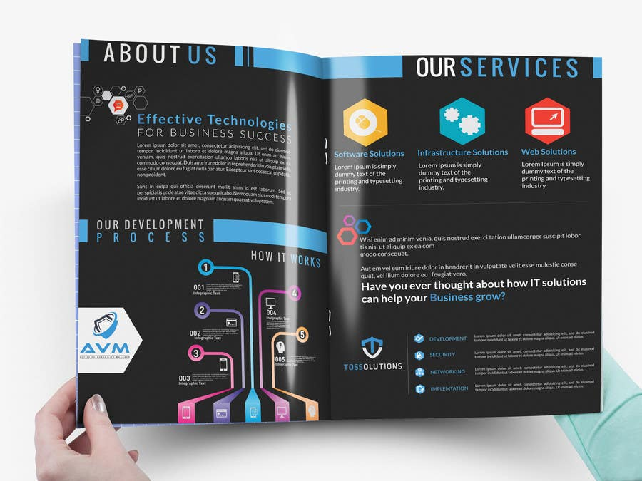 design a brochure for an it security company