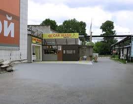 nº 28 pour Exterior design of a coffee kiosk combined with car wash par acepcuyana