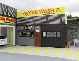 nº 34 pour Exterior design of a coffee kiosk combined with car wash par acepcuyana