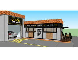 #9 for Exterior design of a coffee kiosk combined with car wash by pfreda
