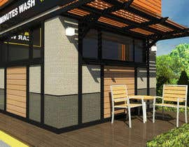 nº 21 pour Exterior design of a coffee kiosk combined with car wash par pfreda