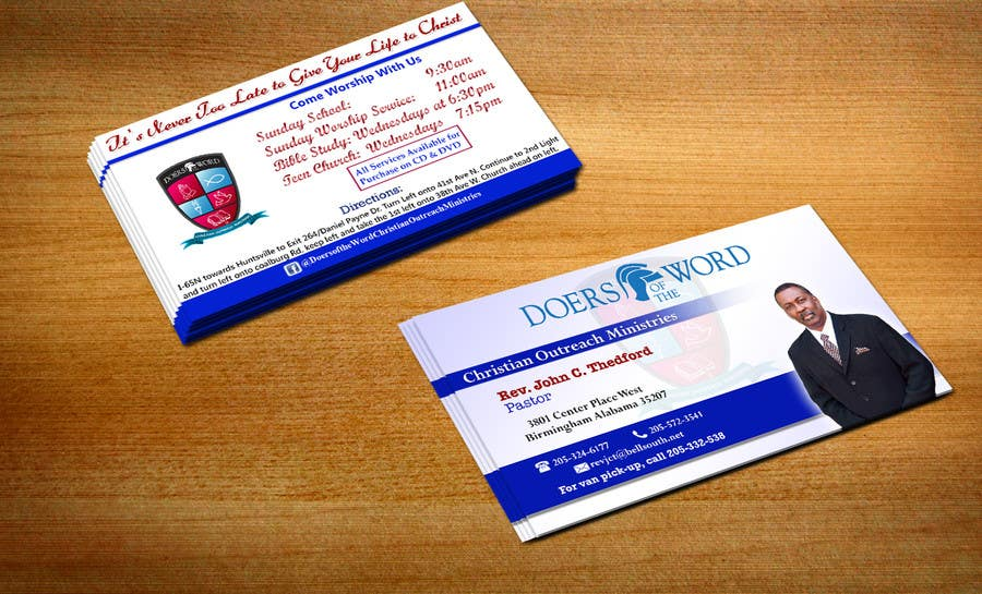 contest entry 27 for design some business cards for church pastor - Pastor Business Cards
