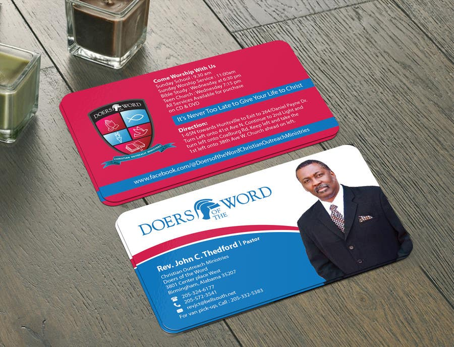 Entry #35 by mamun313 for Design some Business Cards for Church ...