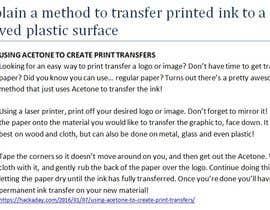 #2 para Explain a method to transfer printed ink to a curved plastic surface por madihajunaid