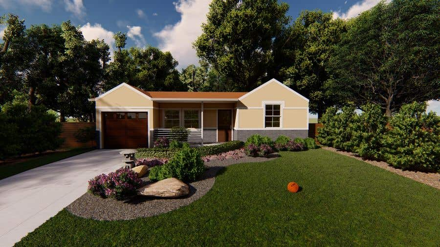 Bài tham dự cuộc thi #                                        56                                      cho                                         3D Renderings House Front Elevation