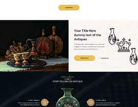#23 for Home Page Mockup For Antique Store Website by codervai