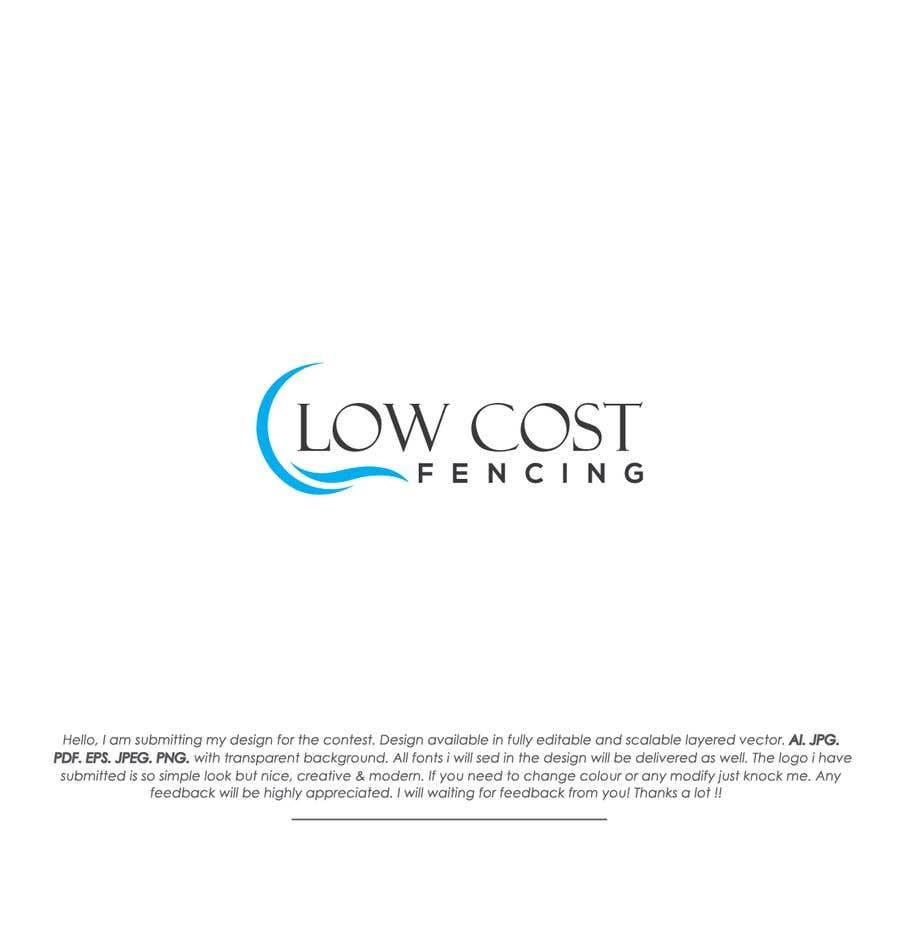 Penyertaan Peraduan #73 untuk Low Cost Fencing Logo