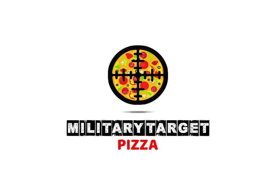 Конкурсная заявка №21 для Military target pizza logo