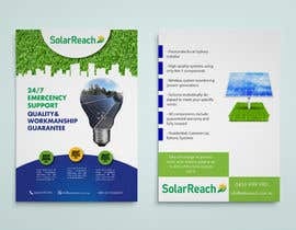 #81 for Design me a single page back & front advertisement pamphlet for my solar installation company af casandrazpran