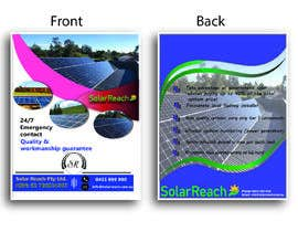 #92 for Design me a single page back & front advertisement pamphlet for my solar installation company af freelanceworldin