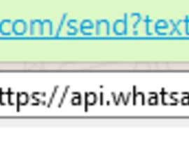 Need a special WhatsApp web link that can forward preloaded