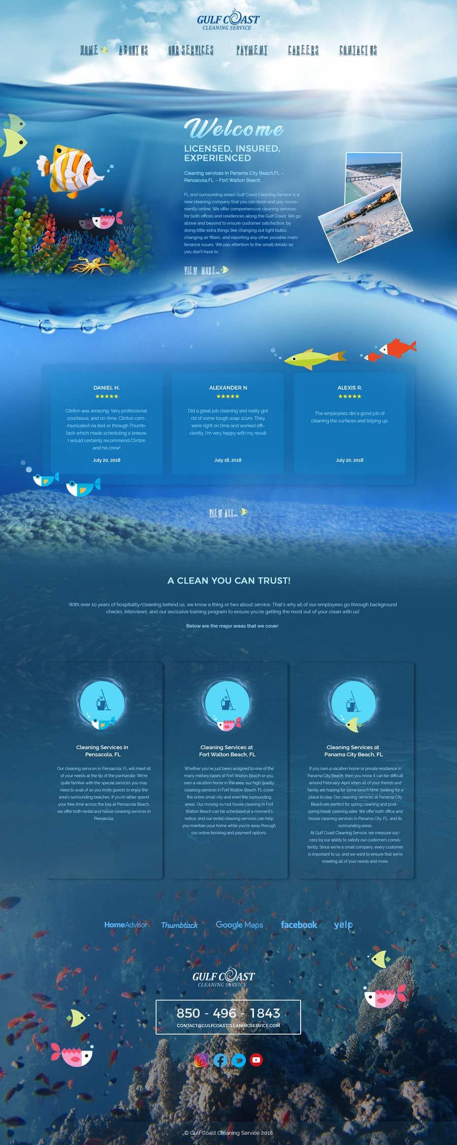 Kilpailutyö #8 kilpailussa Need a new updated homepage mockup