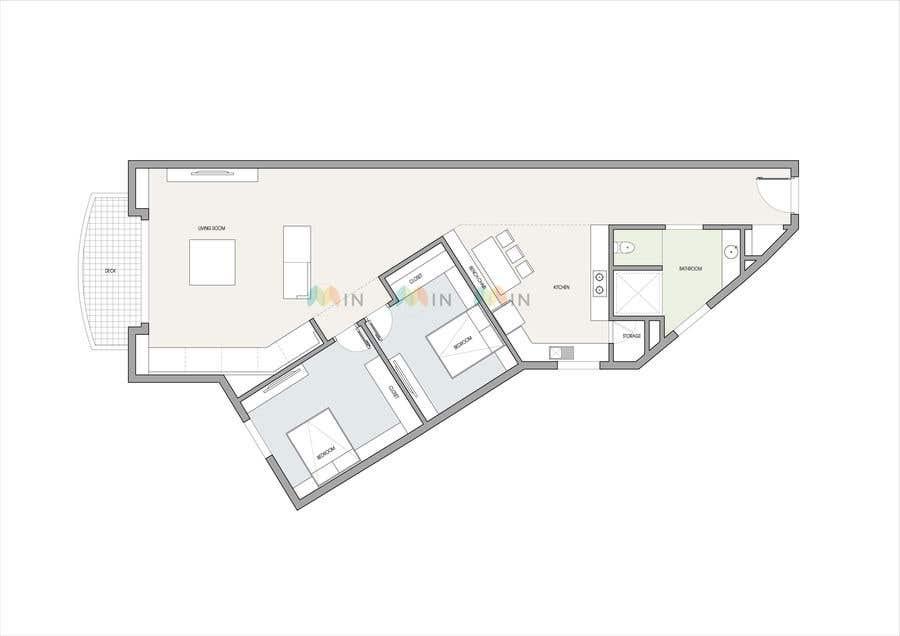 Конкурсная заявка №27 для Re-design an apartment