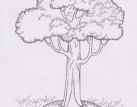 how to draw grass and trees