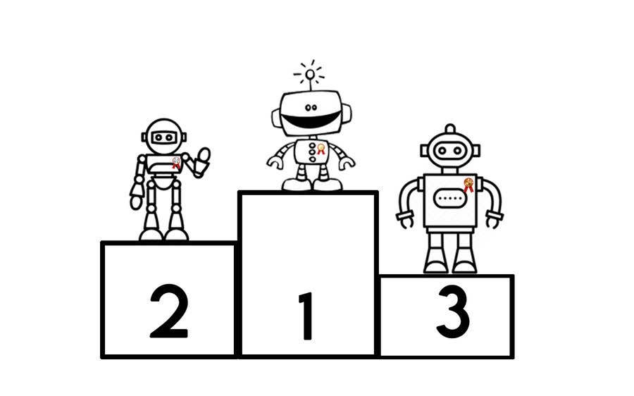 Contest Entry #5 for Robots on the podium winning Gold/Silver/Bronze Medals