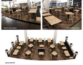 Nro 13 kilpailuun Need an interior designer to build the perspective design for our Japanese restaurant's outdoor space (about 54sqm) please follow the concept given below käyttäjältä yusaldy