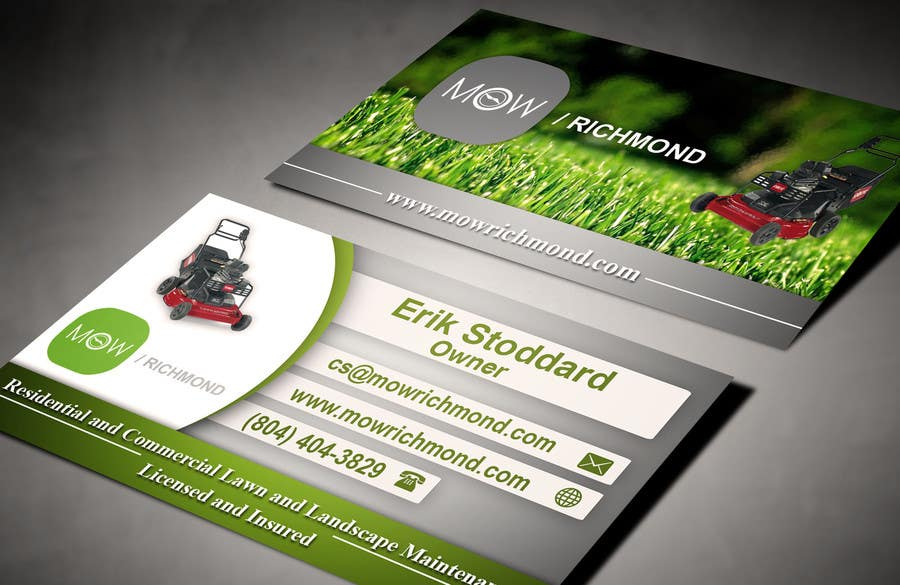Bài tham dự cuộc thi #                                        9                                      cho                                         Design some Business Cards for Lawn Care Business