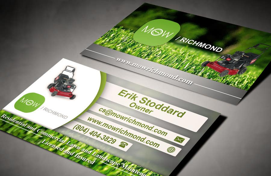 Bài tham dự cuộc thi #                                        11                                      cho                                         Design some Business Cards for Lawn Care Business