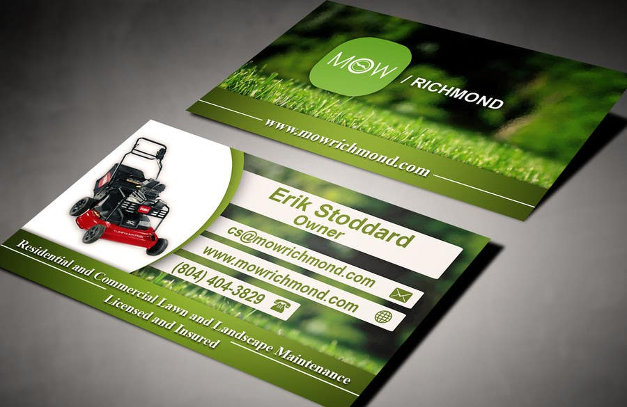 Bài tham dự cuộc thi #                                        14                                      cho                                         Design some Business Cards for Lawn Care Business