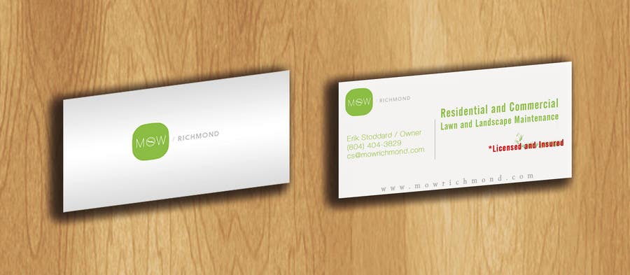 Bài tham dự cuộc thi #                                        3                                      cho                                         Design some Business Cards for Lawn Care Business