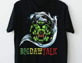 Nro 32 kilpailuun I need a colorful clean graphic of a dog face similar to the attached for T-shirt. Underneath graphic should read BigDawgTalk käyttäjältä Sha7en