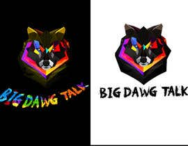 #48 для I need a colorful clean graphic of a dog face similar to the attached for T-shirt. Underneath graphic should read BigDawgTalk от arafath102525
