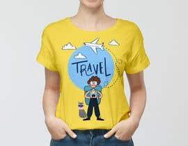 Nro 36 kilpailuun High quality Eye catching travel tshirt käyttäjältä OmarKabil