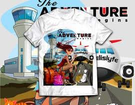 Nro 84 kilpailuun High quality Eye catching travel tshirt käyttäjältä RibonEliass