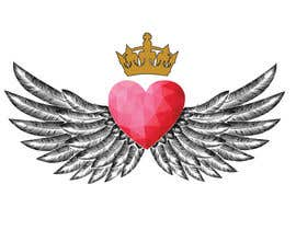 #87 for Create a heart with wings and crown Vector Image by Rezeka