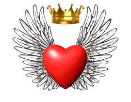#123 untuk Create a heart with wings and crown Vector Image oleh mehrsamiraftabi