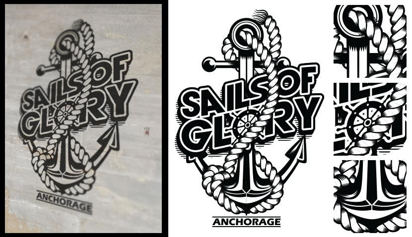 #16 for Sails of Glory Anchorage logo by crayonscrayola