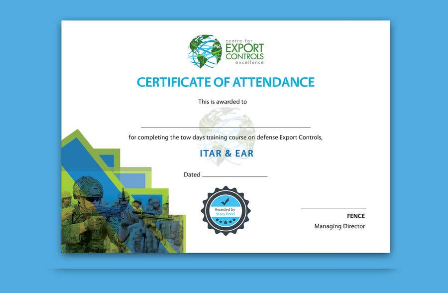 Contest Entry #31 for Certificate of Attendance Template