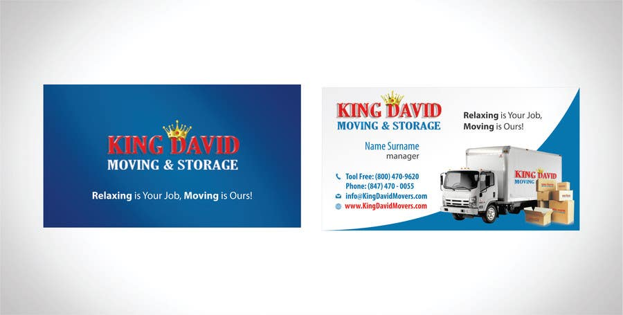 Design business cards flyers for moving company freelancer for Moving business cards