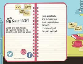 #1 para Graphic Design for Author Page por inu91