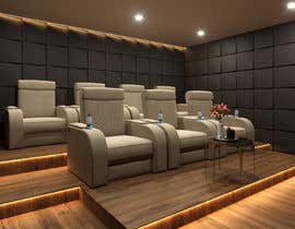 #9 untuk Photo Realistic 3D Rendering of Home Cinema oleh miguelcuamani