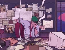 Nro 48 kilpailuun Illustrate A Lo-fi/Anime Style Graphic For Youtube käyttäjältä Sleemsayshey