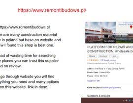 #4 for Wholesale suppliers of construction materials in Poland af vishwajeetbb